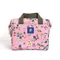 Túi giữ nhiệt đựng hợp cơm văn phòng KeepFood - VN203 - Hoa văn hồng