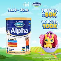 Sữa bột DIELAC ALPHA 4 - Hộp thiếc 900g (dành cho trẻ 2-6 tuổi)