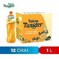 Thùng 12 Chai Nước Trái Cây Twister Cam (1L/chai)