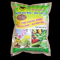 Phân Bón Npk 20-20-15 đa năng 3 màu  (1Kg)- bón cây, rau, cây ăn trái, hoa kiểng - bón gốc dễ sử dụng, kích thích ra lá, ra hoa, đậu trái