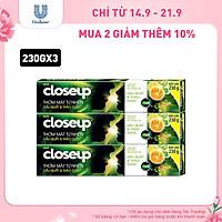 Combo 3 Kem đánh răng dạng gel sạch khuẩn Closeup Thơm Mát Tự Nhiên Dầu Quất & Thảo Dược 230g cho hơi thở thơm mát dài lâu