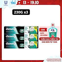 Combo 3 Kem đánh răng dạng gel Closeup Trắng Răng Tự Nhiên Vị Dừa Thơm Mát 230g cho răng trắng tự nhiên hơn sau 2 tuần