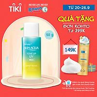 Sữa chống nắng nâng tông dành cho da dầu/hỗn hợp Sunplay Skin Aqua Tone Up UV Milk (Mint Green) (dành cho da sáng, có khuyết điểm đỏ) (50g)