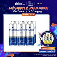 Lốc 6 Lon Nước Uống Có Gas Aquafina Soda (320ml/Lon)