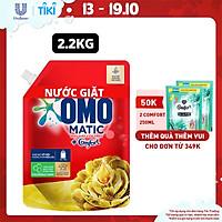 Nước giặt Túi 2.0kg OMO Matic Cho máy giặt cửa trên Hương Comfort Tinh dầu thơm Xoáy bay vết bẩn, hương thơm bền lâu