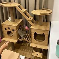 Nhà Cây Cho Mèo Siêu To ( Nhà Đôi Cho Mèo)