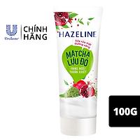 Sữa Rửa Mặt Hazeline Dưỡng Sáng Da Matcha & Lựu Đỏ Chiết Xuất Từ Thiên Nhiên Dịu Nhẹ Cho Da 100g