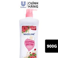 Sữa Tắm Dưỡng Thể Thiên Nhiên Trắng Sáng Da Hazeline Yến Mạch Dâu Tằm Dưỡng ẩm 900g