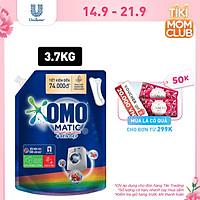 Nước giặt OMO Matic chuyên dụng Cửa Trước Bền Màu với tinh chất Lựu Tre 3.7kg