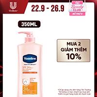 Sữa Dưỡng Thể Vaseline SPF24PA++ Sun + Pollution Protection Chống Nắng Và Dưỡng ẩm Cho Da Sáng Khỏe Mịn Màng Bảo Vệ Da Tới 4H 350ml