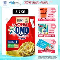 Nước giặt Túi 3.7kg OMO Matic Cho máy giặt cửa trên Hương Comfort Tinh dầu thơm Xoáy bay vết bẩn, hương thơm bền lâu