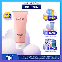 Sữa Rửa Mặt Dưỡng Ẩm Cho Da Thường Và Da Khô Laneige Moist Cream Cleanser (150ml)