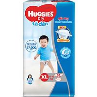 Tã Dán Huggies Dry Gói Cực Đại XL62 (62 Miếng) - Bao Bì Mới