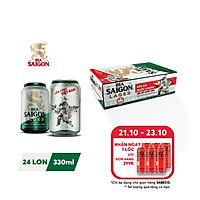 [Phiên bản đặc biệt] Thùng 24 lon bia SAIGON LAGER 330ml