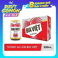 Thùng 24 Lon Bia Việt (330ml/lon)