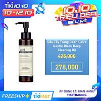 Dầu Tẩy Trang Dear Klairs Gentle Black Deep Cleaning Oil