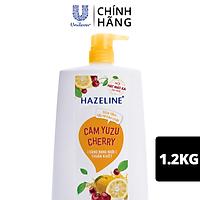Sữa Tắm Dưỡng Thể Thiên Nhiên Trắng Sáng Da Tẩy Tế Bào Chết Sạch Sâu Hazeline Cam Yuzu Cherry 1.2kg