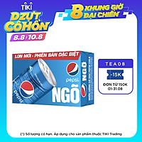 Thùng 24 Lon Nước Ngọt Có Gas Pepsi (245ml/lon)