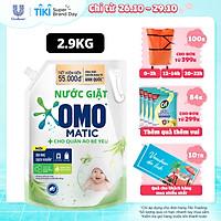 Nước giặt Túi 2.9kg OMO Matic Sạch khuẩn, dịu nhẹ cho quần áo bé yêu