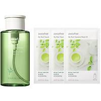 Combo tẩy trang trà xanh Innisfree Green Tea kèm mặt nạ dưỡng da - 278002413x