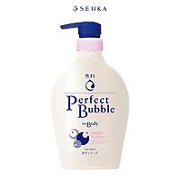 Sữa tắm dưỡng ẩm hương hoa dịu ngọt Senka Perfect Bubble for Body Sweet Floral 500ml