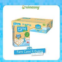 Thùng Sữa đậu nành Fami Canxi ít đường (200ml x 36 Hộp)