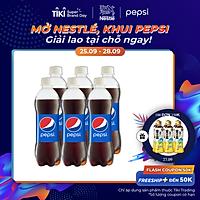 Lốc 6 Chai Nước Ngọt Có Gas Pepsi (390ml / Chai)