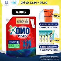 Nước giặt Túi 4.0kg OMO Matic Cho máy giặt cửa trên Sạch bẩn Khử mùi Sạch bẩn Khử mùi toàn diện
