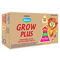 Thùng 48 Hộp Sữa Bột Pha Sẵn Vinamilk Dielac Grow Plus - Đỏ 110ml