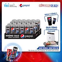 Thùng 24 Lon Nước Uống Có Gaz Pepsi Không Calo (320ml/Lon)