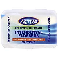 Tăm chỉ nha khoa Beauty Formulas Active Oral care Interdental Flossers - hộp 50 cái