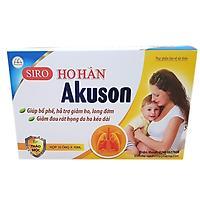Siro ho hàn Akuson thành phần Tự nhiên, giúp bổ phế, hỗ trợ giảm ho, long đờm, rát họng do ho nhiều và hỗ trợ tăng cường sức đề kháng, Dùng được cho bà bầu, trẻ nhỏ (Hộp 10 ống x 10ml)