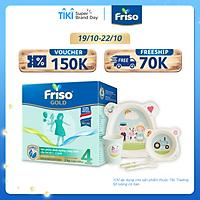 [Mới] Hộp giấy 2 Kg Friso Gold 4 + Tặng bộ set ăn Friso cho bé
