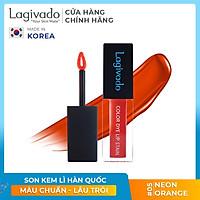 Son kem lì lên màu chuẩn, lâu trôi Hàn Quốc Lagivado Color Dye Lip Stain dạng nước 4,5 gram – 04 màu son
