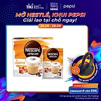 Cà Phê Hòa Tan Nescafé Cappuccino Vị Caramel (Hộp 10 Gói x 20g) - BAO BÌ MỚI