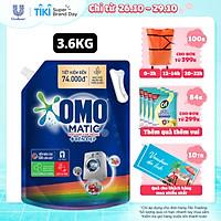 Nước giặt OMO Matic chuyên dụng Cửa Trước Bền Màu với tinh chất Lựu Tre 3.6 kg
