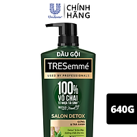Dầu Gội Tresemmé Salon Detox Gừng Và Trà Xanh Detox Tóc Chắc Khoẻ (640g)