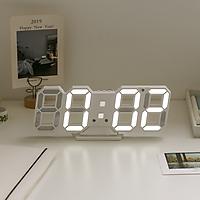 Đồng hồ MUNTY LED trắng hiện thị đa chức năng trang trí nhà cửa, quán cafe