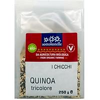 Hạt diêm mạch hỗn hợp ba màu hữu cơ Sottolestelle 250g Organic Quinoa Tricolor