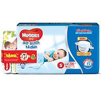 Tã Dán Sơ Sinh Huggies Dry Newborn S56 (56 Miếng) - Tặng Kèm Khăn ướt Huggies