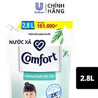 Nước xả vải em bé Comfort kháng khuẩn dịu nhẹ với công thức kháng khuẩn chứa chiết xuất tràm trà thiên nhiên, Túi 2.8L