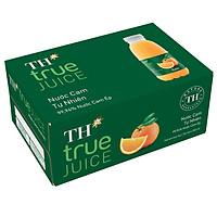 Thùng 24 Chai Nước Trái Cây TH True Juice Cam Tự Nhiên 350ml (350mlx24)