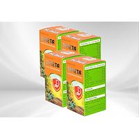 Combo 4 Hộp Thực Phẩm Chức Năng Simeta-Giải Pháp Cho Người Trào Ngược Dạ Dày Thực Quản, Giảm đau Dạ dày, Tá tràng, Làm dịu các triệu chứng ợ hơi, ợ chua, trào ngược, Bảo vệ và tái tạo niêm mạc dạ dày
