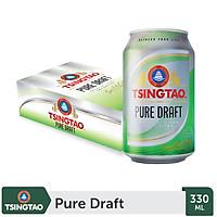 Thùng 24 lon Bia Tsingtao Pure Draft (330ml/lon)