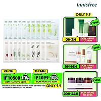 Combo 10+10 Mặt Nạ Giấy Dưỡng Ẩm Phục Hồi Da Innisfree My Real Squeeze Mask 20ml - 278002044