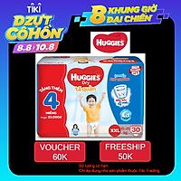 Tã Quần Huggies Dry gói trung XXL30 (30 Miếng) - Tặng 4 miếng