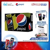 Thùng 24 Lon Nước Uống Có Gaz Pepsi Vị Chanh Không Calo (320ml/Lon)