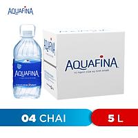 Thùng 4 Chai Nước Khoáng Thiên Nhiên Aquafina (5L/chai)