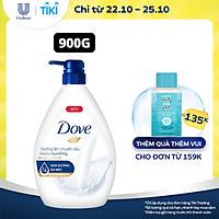 Sữa Tắm Dưỡng Thể 900G Dove Dưỡng Ẩm Chuyên Sâu Deeply Nourishing Với 1/4 Kem Dưỡng Da Mặt
