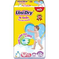 Tã Quần Em Bé Siêu Khô Thoáng Unidry Size XL48